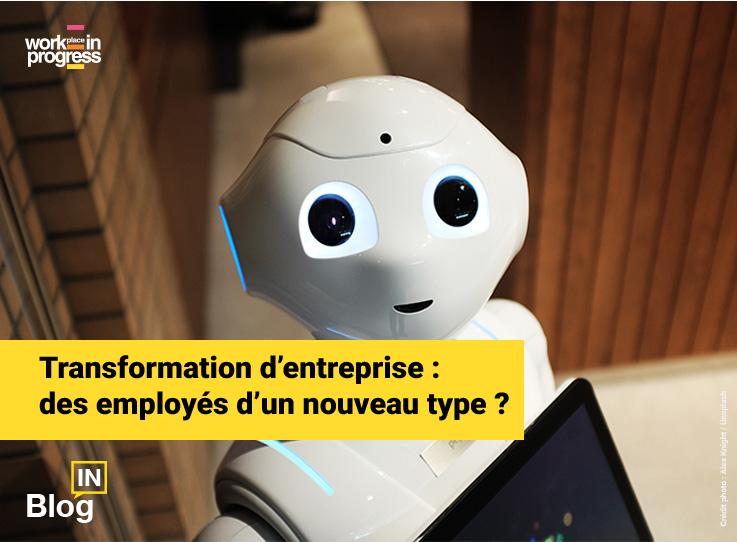 Pepper le robot illustrant l'article de blog workINprogress « Transformation d'entreprise : des employés d'un nouveau type ? »