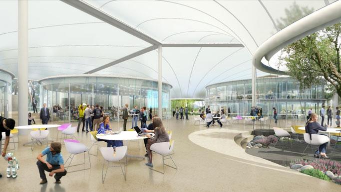 La Canopée de thecamp à Aix-en-Provence illustrant l'article de blog workINprogress « Quelle eXpérience Employé dans une entreprise ouverte ? »