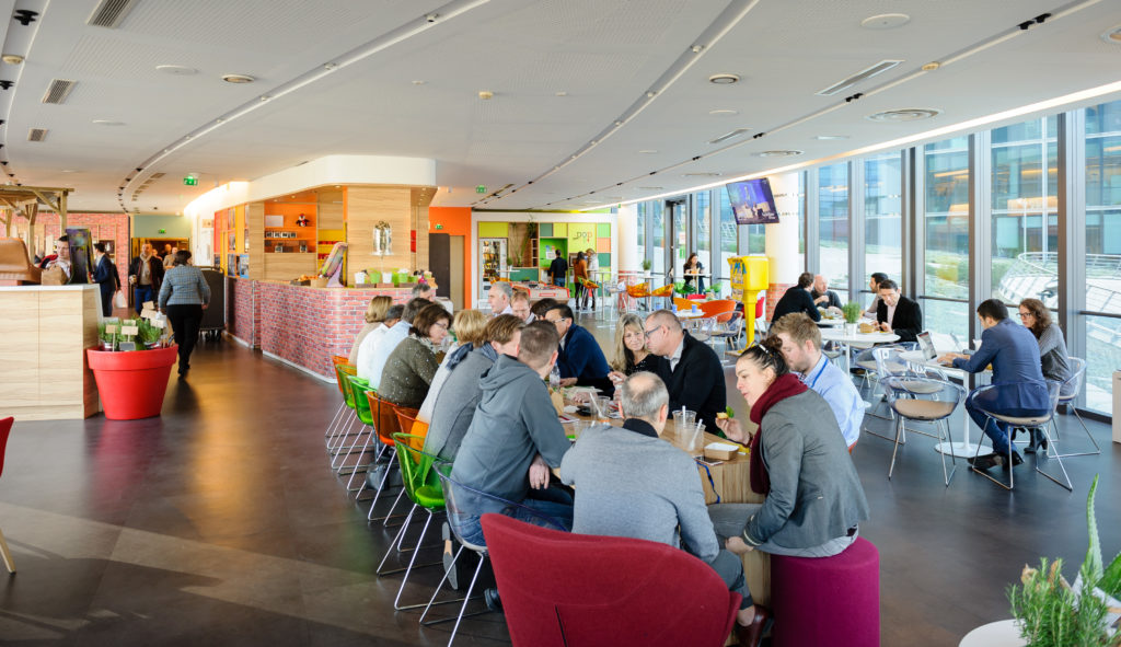 Caféteria Pop Up chez Microsoft France